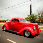 36 coupe red driving 150x150 Hot Rods